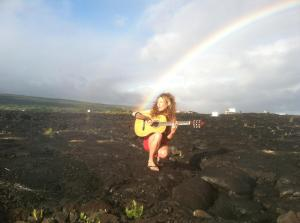 Recording my Magma music video on the lava fields of Big Island, Hawaii