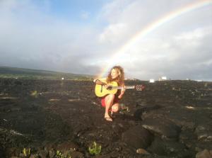 Recording my Magma music video on the lava fields of Big Island, Hawaii